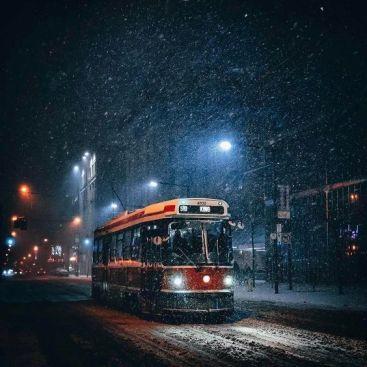 winter streetcar