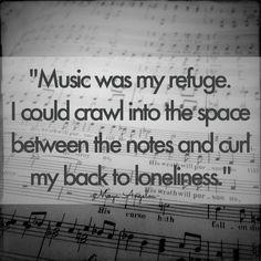 music was my refuge