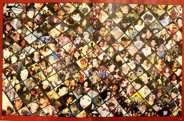 Yearbook face collage